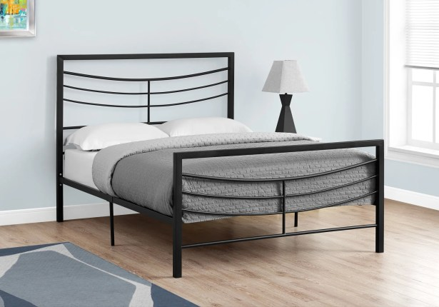 Haney Platform Bed Size: Full, Color: Black