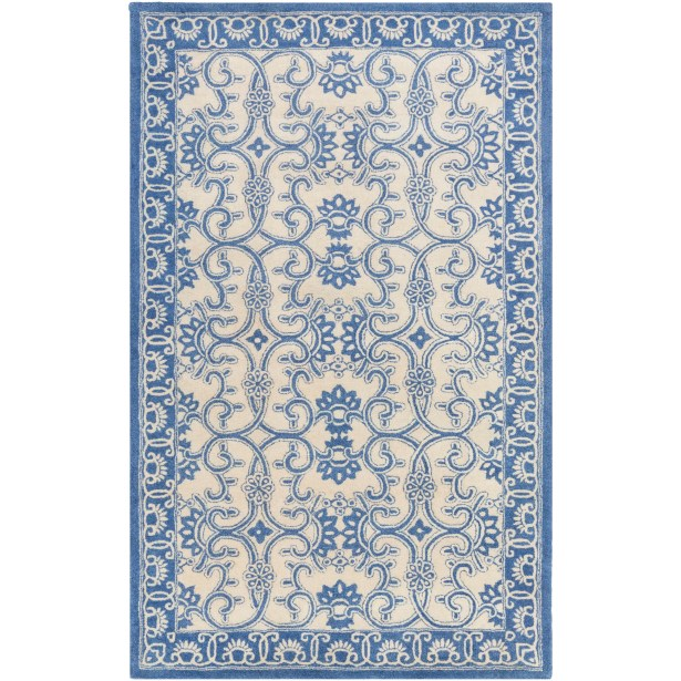 Hand-Tufted Blue/Neutral Area Rug Rug Size: Rectangle 8' x 11'