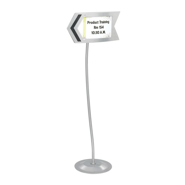 Customizable Arrow Sign in Gray