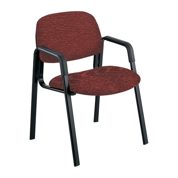 Cava Urth Guest Chair Color: Burgundy, Frame Type: Straight Leg