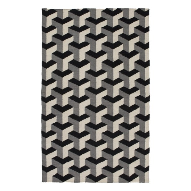 Handmade Black/Gray Area Rug Rug Size: Runner 2'6