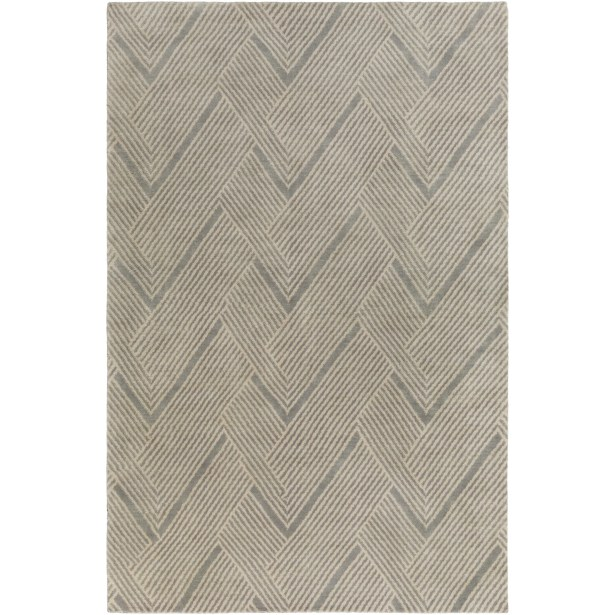 Hand-Tufted Wool Moss/Sea Foam Area Rug Rug Size: Rectangle 6' x 9'