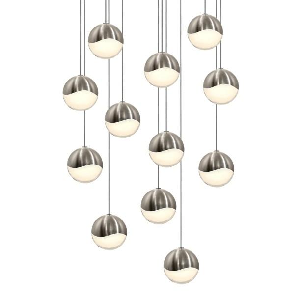 Grapes 12-Light Pendant Size: Assorted, Finish: Satin Nickel