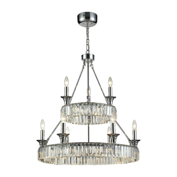 Korth 9-Light Wagon Wheel Chandelier