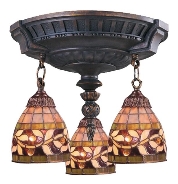 Mix-N-Match 3-Light Semi-Flush Mount Bulb Type: LED 13.5W 800 Lumens