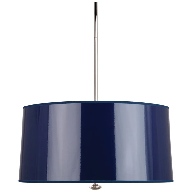 Penelope 3-Light Pendant Shade Color: Navy Ceramik Parchment
