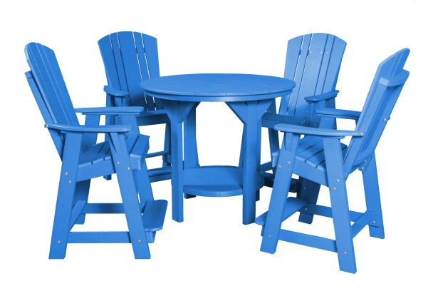 Patricia Traditional 5 Piece Dining Set Finish: Blue