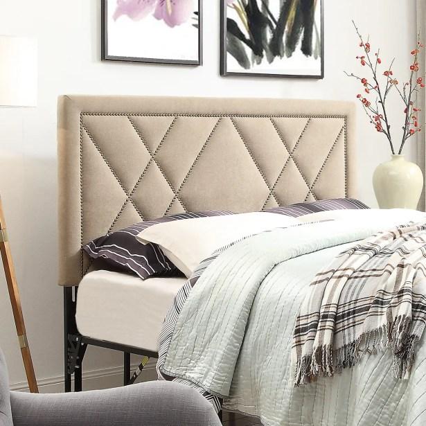 Honore Nailhead Upholstered Headboard Size: Eastern King