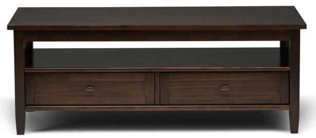 Warm Shaker Coffee Table Color: Tobacco Brown