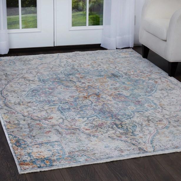 Artisan Blue/Gray Area Rug Rug Size: Rectangle 3'11