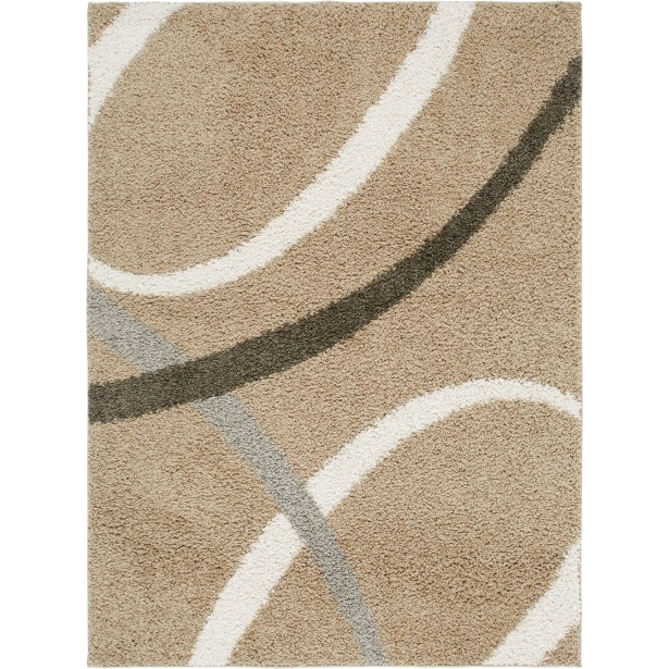 Synergy Beige Area Rug Rug Size: Rectangle 5'2