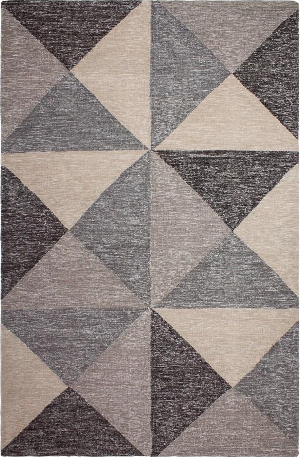 Metro Hand-Woven Gray/Beige Area Rug Rug Size: Rectangle 8' x 10'