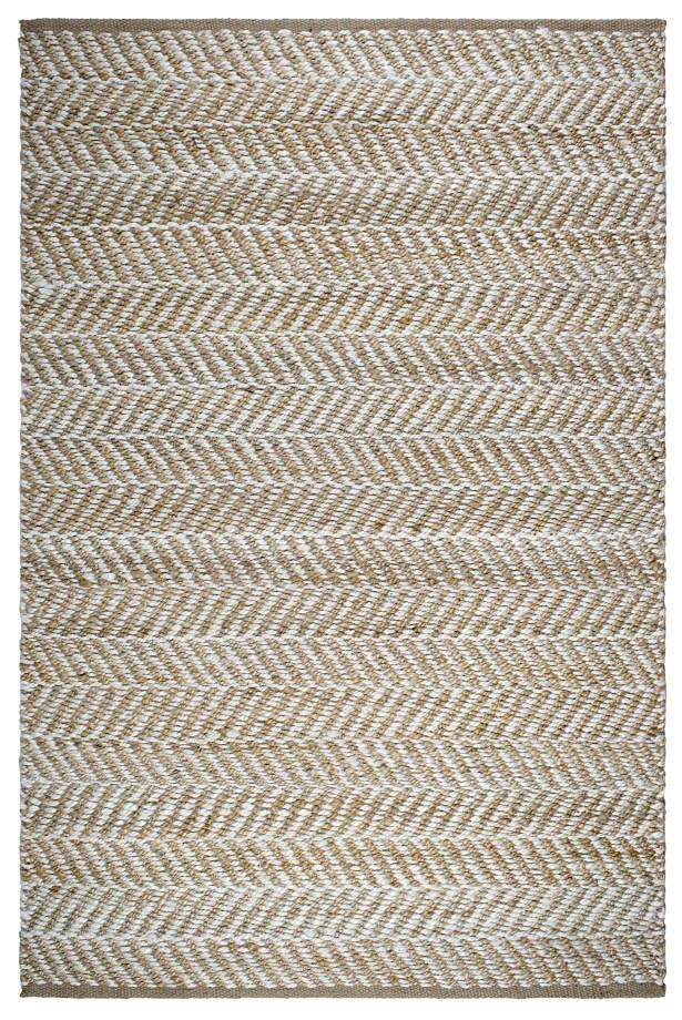 Naugatuck Canyon Hand-Woven Light Brown/White Area Rug Rug Size: 6' x 9'
