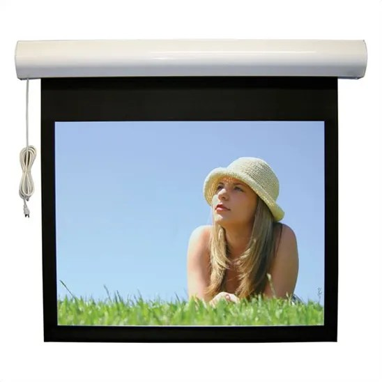 Lectric I RF Matte Black Electric Projection Screen Low Voltage Motor Viewing Area: 144