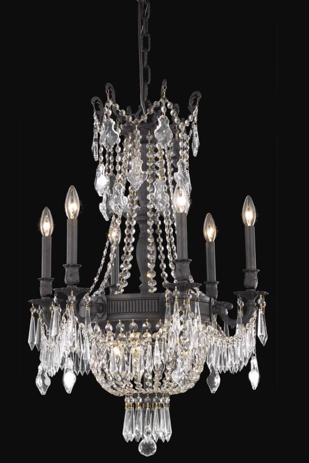 Ursula 9-Light Chain Empire Chandelier Crystal Grade: Elegant Cut
