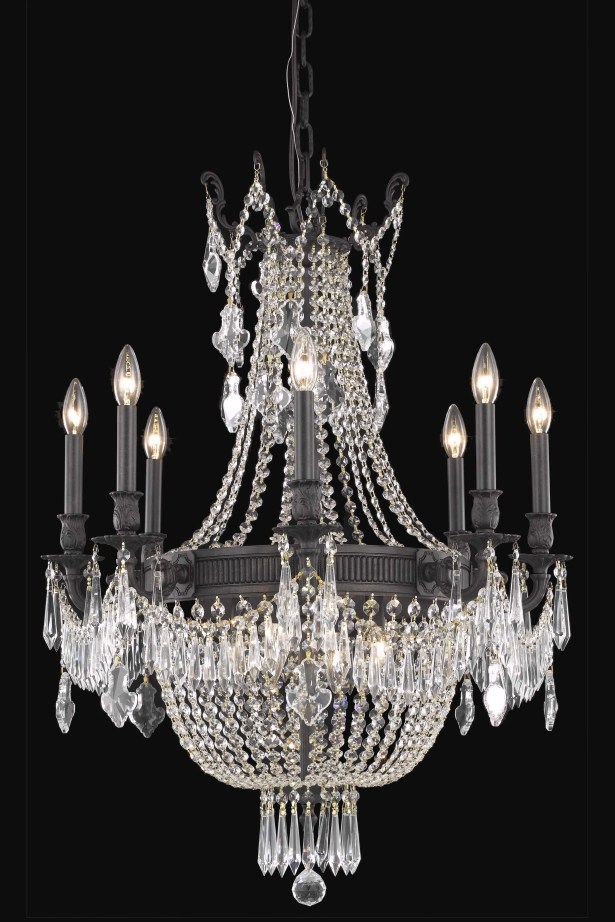 Ursula 12-Light Chain Empire Chandelier Crystal Grade: Royal Cut