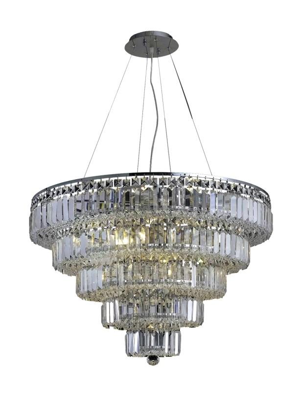 Langer 17-Light Crystal Chandelier Finish: Chrome, Crystal Grade: Egyptian