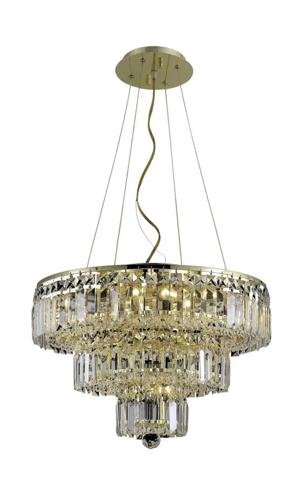 Langer 9-Light Crystal Chandelier Finish: Gold, Crystal Grade: Swarovski Strass