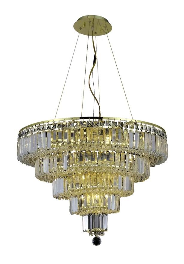 Langer 14-Light Crystal Chandelier Finish: Gold, Crystal Grade: Swarovski Strass