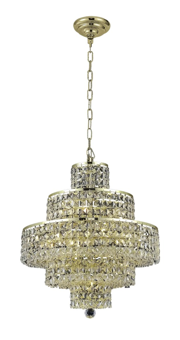 Bratton 13-Light Chandelier Crystal Trim: Royal Cut