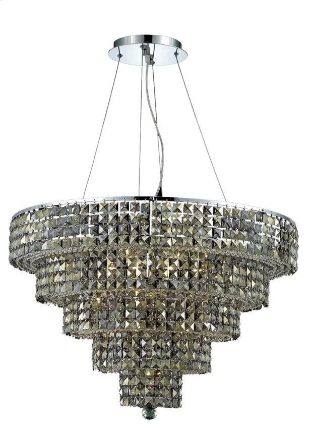 Bratton Contemporary 17-Light Chandelier Crystal Color / Crystal Trim: Crystal (Clear) / Spectra Swarovski
