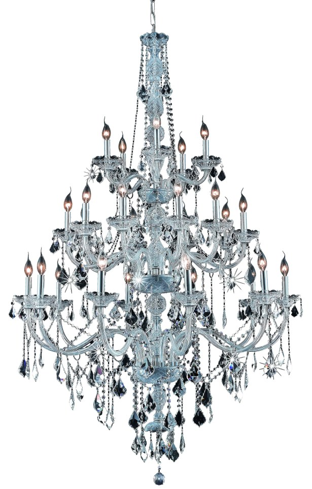 Petties 25-Light Candle Style Chandelier Color: Chrome, Crystal Grade: Swarovski Strass