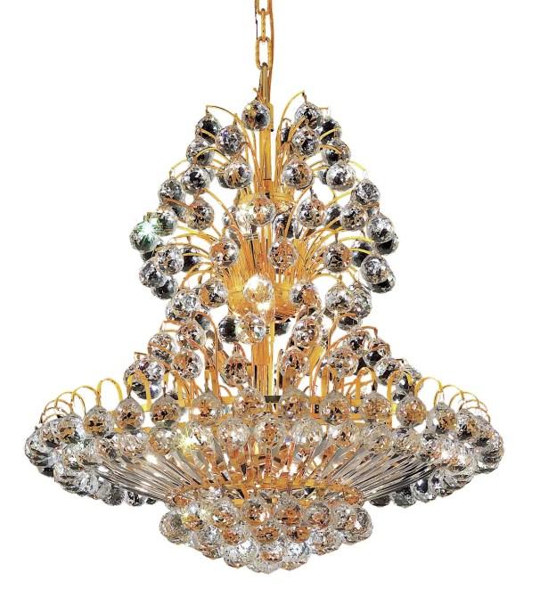 Maud 14-Light Chandelier Finish: Gold, Crystal Grade: Swarovski Spectra