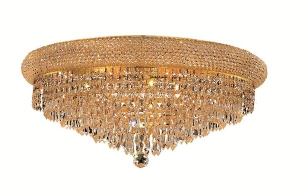 Jessenia Contemporary 12-Light Crystal Shade Flush Mount Finish: Chrome, Crystal Grade: Elegant Cut