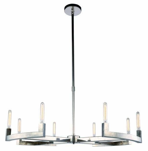 Donnell 8-Light  LED  Chandelier Finish: Polished Nickel