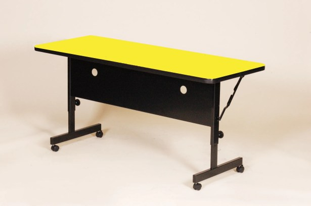 Flipper Training Table with Modesty Panel Tabletop Finish: Yellow, Size: 72