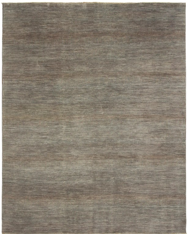 Illusions Hand-Knotted Gray Area Rug Rug Size: 9' x 12'