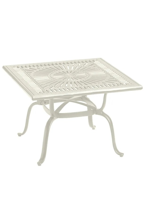 Cast Aluminum Bistro Table Frame Color: Parchment