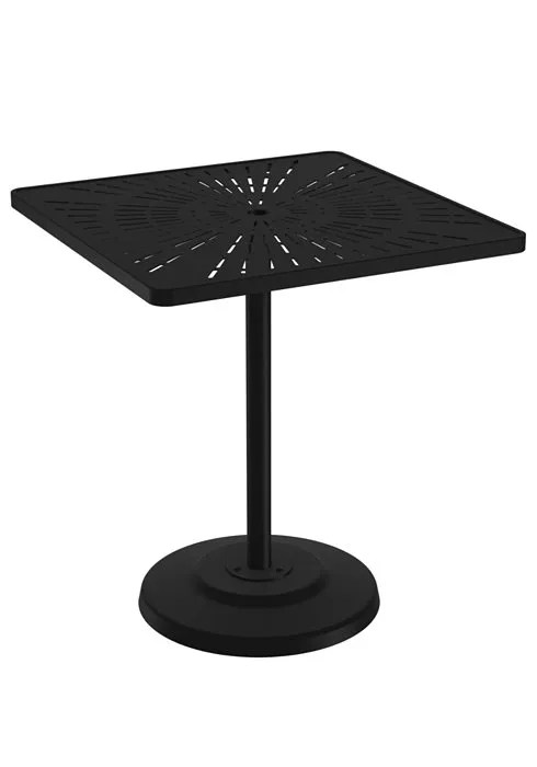 La'Stratta Aluminum Bar Table Frame Color: Shell