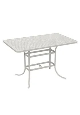 Boulevard Aluminum Bar Table Frame Color: Shell
