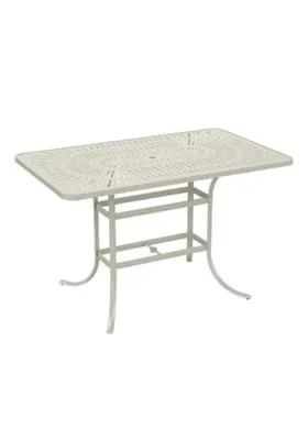 La'Stratta Aluminum Bar Table Frame Color: Parchment