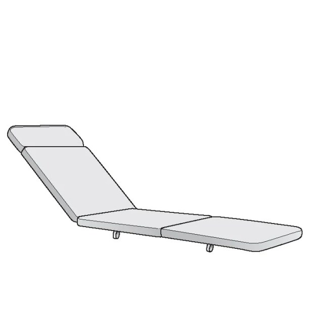 La Scala Indoor/Outdoor Chaise Lounge Cushion Fabric: Cascade