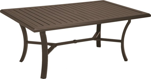 Banchetto Aluminum Dining Table Size: 84