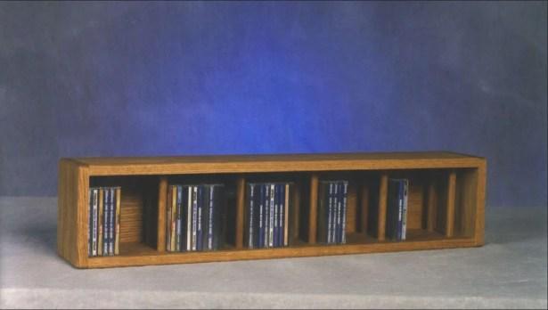 100 Series 67 CD Multimedia Tabletop Storage Rack Color: Dark