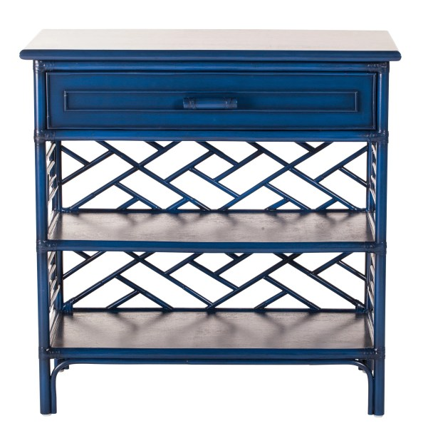 Chippendale End Table Finish: Navy Blue