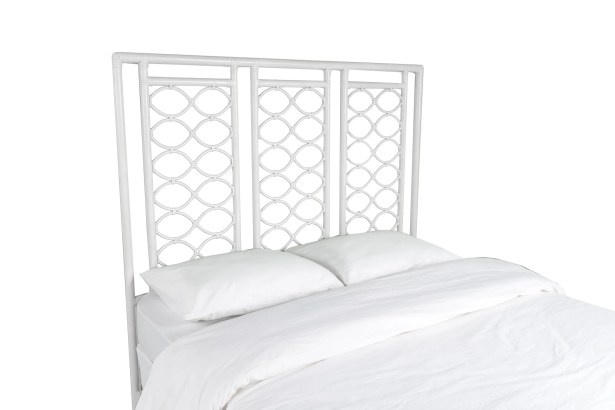 Infinity Open-Frame Headboard Color: Bright White, Size: Queen