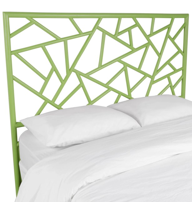 Tiffany Open-Frame Headboard Color: Celery Green, Size: Twin