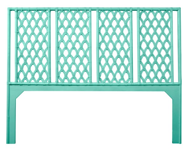 Casablanca Open-Frame Headboard Color: Turquoise, Size: Twin