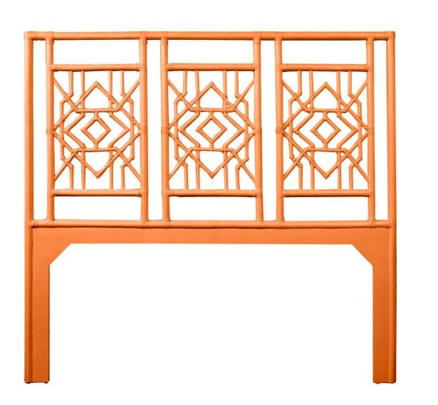 Tulum Open-Frame Headboard Color: Citrus Orange, Size: King