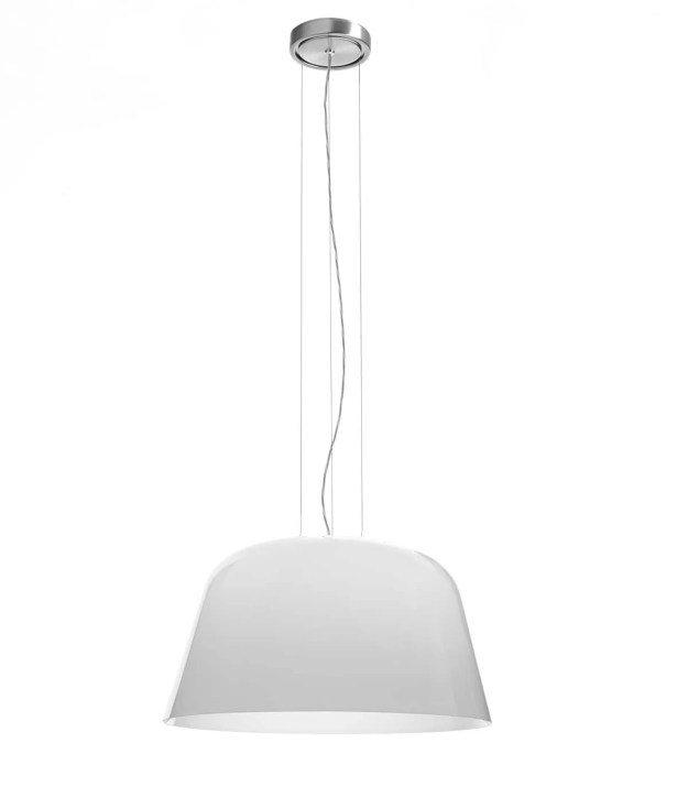 Ayers 1-Light Dome Pendant Bulb Type: 75 Watt A-19 Incandescent, Finish: Brushed Nickel, Shade Color: Glossy Black