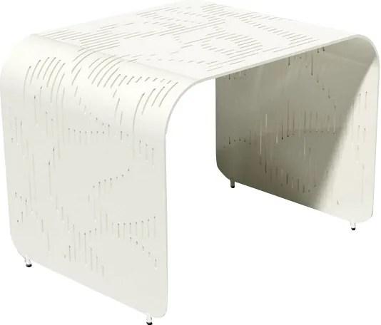 Botanist Orikami Side Table by Karim Rashid Finish: Cream Soda