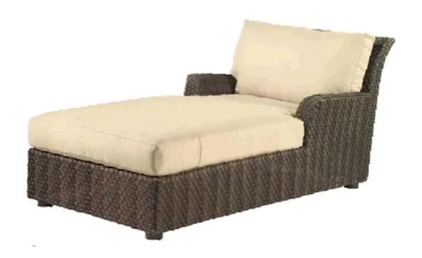 Aruba Chaise Lounge with Cushion Fabric Color: Paris Honeydew