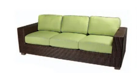 Montecito Patio Sofa with Cushions Fabric: Canyon Fern