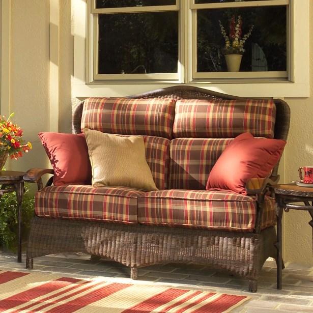 Chatham Loveseat with Cushions Fabric: Canvas Bird's Eye