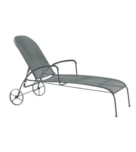 Valencia Reclining Chaise Lounge Finish: Graphite