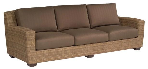 Saddleback Patio Sofa with Cushions Fabric: Sailcloth Seagull Rain